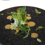 レストラン ローブ - 前菜1:鎌倉野菜 ハーブ アンチョビ、オリーブオイル、レモングラスのソース
