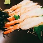 寿司お造り 大漁 - エビの刺身もぷりぷりしてうまかった