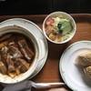 ねむの木 - 料理写真:タンシチュー、パンにはハムとキウリ。サラダのドレッシングも優しい味です。