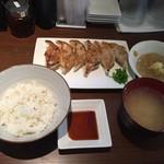 かぐらちゃか 餃子庵 - 餃子定食
