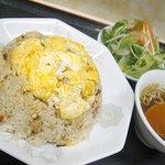 中華&洋食 コタン - 『チャーハン(サラダ付)』580円。