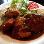 洋食屋グリルCoCCo - Bセット(ヘレカツ・合挽バーグ・魚フライ)