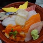 市場のすしやさん - 2016年8月 ランチの「活ちらし丼」650円(税込)