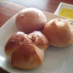 風の邱 - セットのパン3種