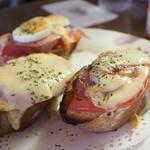 珈琲館 - フランスパンのピザトースト