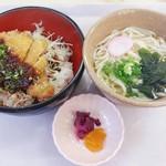 シェ・デジマ - 味噌カツ丼セット(610円)