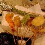 菜々海 - 串揚げ八種。