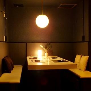 個室をご用意☆デートや女子会に最適なプライベート空間♪