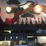 タイガー餃子会舘 - 厨房の上部の壁