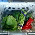 メルヘンの丘 野菜直売所 - 料理写真:買った野菜。(他にもいくつか買ってますけど)