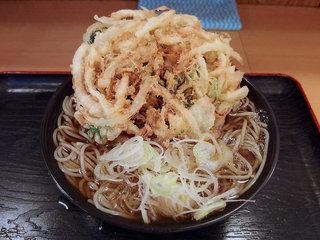 がんぎ 三田店 - かき揚げそば(470円)