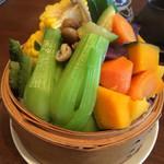 55183163 - 旬の野菜色々入ったセイロ蒸し