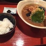 六々々屋 - 天カレーうどん定食 880yan('16.03)