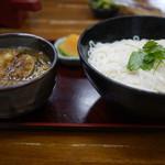 長寿庵 - 麦の肉汁~☆