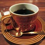 cafe zuccu - ブレンドコーヒー450円。中山珈琲焙煎所の豆だそう