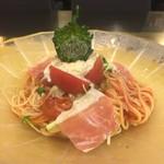 55184691 - 生湯葉とフルーツトマトの冷製京風カプレーゼ