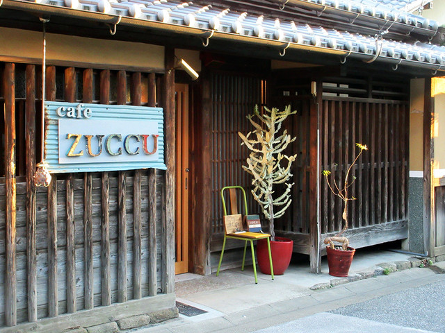 cafe zuccu - 築150年の町家なんだそう。ファザードサインが印象的