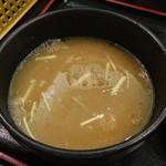 麺匠 桂邸 - スープ割り