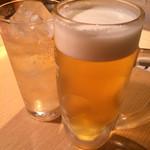 炭火鶏焼肉 しんざん - とりあえずありっ( ^^)/▽▽\(^^ )乾杯