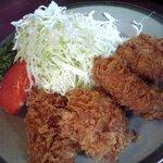 とんかつ大関 - ひれカツ定食のアップ