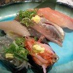 沼津魚がし鮨 - 地魚5種