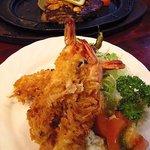 キャロット - 海老フライ3尾とステーキの海老フライ