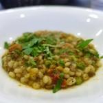 リストランテ シーヴァ - 大麦のリゾット、イカのソース