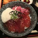 新和食 伊達 - 漬けまぐろの山かけ丼