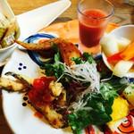 55205963 - アモーレランチの前菜とサラダ   これで一人前です♪