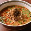 中国山椒と辣油の効いた汁あり担担麺