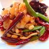 大海老の唐辛子と山椒 香り炒め