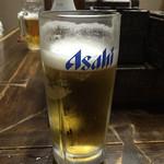 室蘭やきとり 今昔 - アサヒスーパードライで乾杯