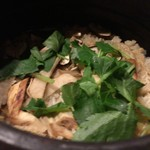 旬菜 おぐら家 - おぐら家・松茸の土鍋炊き込みご飯