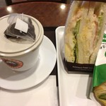 サンマルクカフェ - 料理写真:チョコクロとサンドイッチのランチ