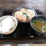 からたちうどん - カツ柳川定食