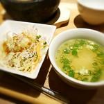 博多 焼肉慶州 - サラダ・スープ