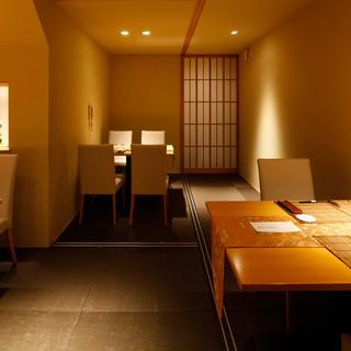 京都を訪れる楽しみの一つ。洗練された空間と美しい京料理