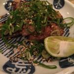 あなごや 日本酒と酒肴のお店 - 合鴨の黒胡椒焼き