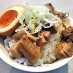麺の風 祥気 - 肉めし(2016年8月)
