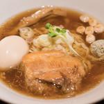 國分ラーメン食堂 - 2016.8 手もみ中華そば 醤油(720円)+味玉(100円)