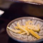 蕎麦 あざみ - 柚子(ゆず)の皮(かは)