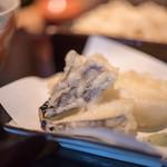 蕎麦 あざみ - 精進揚(しやうじんあげ)、茄子(なす)