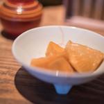 蕎麦 あざみ - 蘿蔔(すゞしろ)醤油漬(しやうゆづけ)