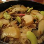 鎌倉 花ごころ - サザエの炊き込み御飯アップ