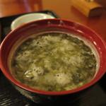 鎌倉 花ごころ - あおさのみそ汁アップ