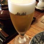 いろり家 - 生ビール(600円)