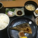 魚彩 銀の鯛 - 焼き鯖定食(2015,10)