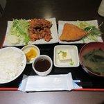 海風 - チキン南蛮定食+アジフライ2016.08.25