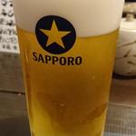 魚の納屋 - 2016/8 生ビール \470