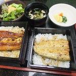 55234425 - 鰻重と白焼きご飯(3,440円)